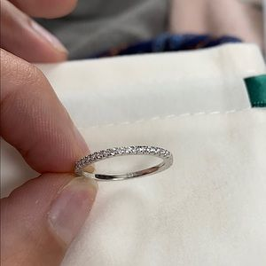 925 Sterling Silver CZ Eternity Band
